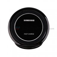 For Samsung Galaxy S7 Series Round Wireless Charging Pad Replacement - Black - Grade R