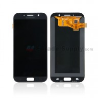 For Samsung Galaxy A7 (2017) SM-A720 LCD Screen and Digitizer Assembly Replacement - Black - With Logo - Grade S+