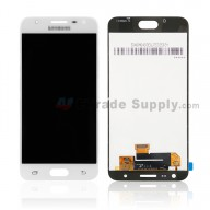For Samsung Galaxy J5 Prime SM-G570 LCD Screen and Digitizer Assembly Replacement - White - With Logo - Grade S