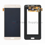 For Samsung Galaxy J7 (2016) SM-J710F LCD Screen and Digitizer Assembly Replacement - Gold - With Logo - Grade S