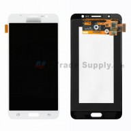 For Samsung Galaxy J7 (2016) SM-J710F LCD Screen and Digitizer Assembly Replacement - White - With Logo - Grade S