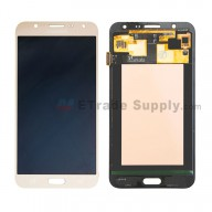 For Samsung Galaxy J7 SM-J700F LCD Screen and Digitizer Assembly Replacement - Gold - With Logo - Grade S+
