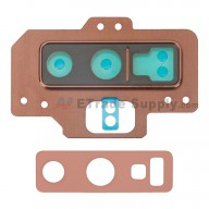 For Samsung Galaxy Note 9 Series Rear Facing Camera Lens with Bezel Replacement - Brown - Grade S+