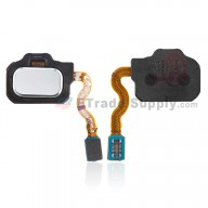For Samsung Galaxy S8 Series Home Button Flex Cable Ribbon Replacement - Silver - Grade S+