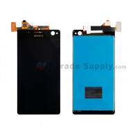 For Sony Xperia C4 LCD Screen and Digitizer Assembly Replacement - Black - With Logo - Grade S+