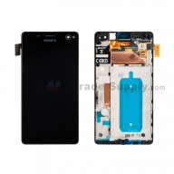 For Sony Xperia C4 LCD Screen and Digitizer Assembly with Front Housing Replacement - Black - With Logo - Grade S+
