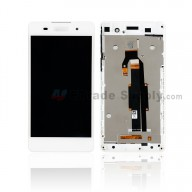 For Sony Xperia E5 F3311 LCD Screen and Digitizer Assembly With Front Housing Replacement - With SN Logo - White - Grade S+