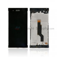 For Sony Xperia XA1 LCD Screen and Digitizer Assembly with Front Housing Replacement - Black - With Logo - Grade S+