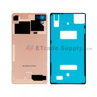 For Sony Xperia X Battery Door Replacement - Pink - With Sony and Xperia Logo - Grade S+