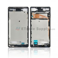 For Sony Xperia X Front Housing Replacement - Black - Grade S+