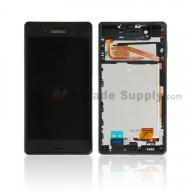 For Sony Xperia X LCD Screen and Digitizer Assembly With Front Housing Replacement - Black - With SN Logo - Grade S+