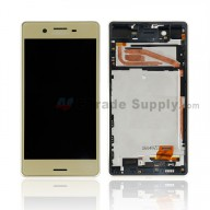 For Sony Xperia X LCD Screen and Digitizer Assembly With Front Housing Replacement - Gold - With SN Logo - Grade S+