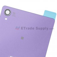 For Sony Xperia Z3 Battery Door Replacement (with NFC) - Purple - With Sony and Xperia Logo - Grade S+
