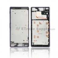 For Sony Xperia Z3 Front Housing Replacement - Purple - Grade S+