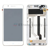 For ZTE Blade A570 LCD Screen and Digitizer Assembly with Front Housing Replacement - White - Without Any Logo - Grade S+