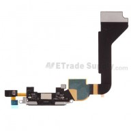 For Apple iPhone 4 Charging Port Flex Cable Ribbon Replacement (AT&T) - Black - Grade S+