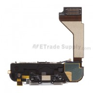 For Apple iPhone 4 Charging Port Flex Cable Ribbon Assembly Replacement (AT&T) - White - Grade S+