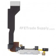 For Apple iPhone 4 Charging Port Flex Cable Ribbon Replacement (Verizon Wireless) - White - Grade S+