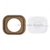 For Apple iPhone 5 Home Button with Rubber Gasket Replacement - White - Grade S+