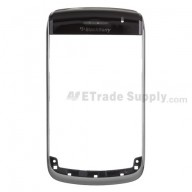 For BlackBerry Bold 9700 Chrome Ring with Top Cover Replacement - Black - Grade S+