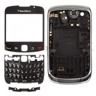 For BlackBerry Curve 3G 9300 Complete Housing Replacement - Silver - Grade S+
