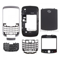 For BlackBerry Curve 3G 9300 Complete Housing Replacement - Silver Gray - Grade S+