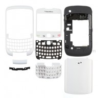For BlackBerry Curve 8520 Complete Housing Replacement - White - Grade S+