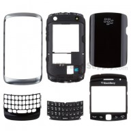 For BlackBerry Curve 9360 Complete Housing Replacement - Black - Grade S+