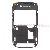 For BlackBerry Torch 9800 D Side Housing with Small Parts Replacement - Black - Grade S+