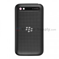 For BlackBerry Classic Q20 Battery Door Replacement - Black - Without Carrier Logo - Grade S+