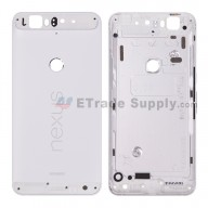 For Huawei Nexus 6P Rear Housing without Top and Bottom Cover Replacement - White - Grade S+