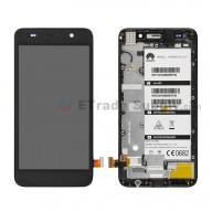 For Huawei Y6 LCD Screen and Digitizer Assembly with Front Housing Replacement - Black - Without Any Logo - Grade S+