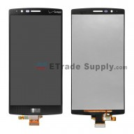 For LG G4 VS986 LCD Screen and Digitizer Assembly Replacement - Black - With Logo - Grade S