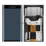 For BlackBerry Priv LCD Screen and Digitizer Assembly with Frame Replacement - Black - With Logo - Grade S+