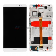 For Huawei Mate 8 LCD Screen and Digitizer Assembly with Front Housing Replacement - White - With Logo - Grade S+