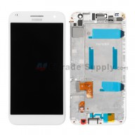 For Huawei Ascend G7 LCD Screen and Digitizer Assembly with Front Housing Replacement - White - With Logo - Grade S+
