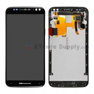 For Motorola Moto X Style XT1575/XT1572 LCD Screen and Digitizer Assembly with Front Housing Replacement (5.7inches) - Black - Without Logo - Grade S+