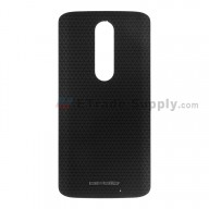 For Motorola Droid Turbo 2 XT1585 Battery Door Replacement - Black - Grade S+