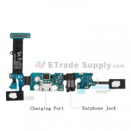 For Samsung Galaxy Note 5 SM-N920A Charging Port Flex Cable Ribbon with Earphone Jack Replacement - Grade S+