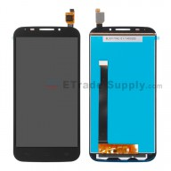 For Alcatel One Touch Pop S7 OT-7045 LCD Screen and Digitizer Assembly  Replacement - Black - Without Logo - Grade S+