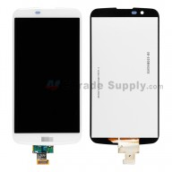 For LG K10 LCD Screen and Digitizer Assembly Replacement - White - With Logo - Grade S+
