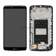 For LG K10 LCD Screen and Digitizer Assembly with Front Housing Replacement (With Small Parts) - Black - With Logo - Grade S+