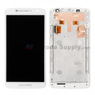 For Motorola Moto X Play XT1561/XT1562 LCD and Digitizer Assembly with Front Housing Replacement(5.5 inches) - White - Without Logo - Grade S+