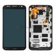 For Motorola Moto X (2nd Gen.) XT1092 LCD Screen and Digitizer Assembly with Front Housing Replacement (No Mesh Cover) - Black - Without Logo - Grade S+