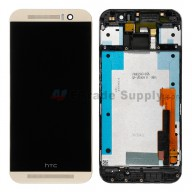 For HTC One M9 LCD Screen and Digitizer Assembly with Front Housing Replacement - Gold - Grade S+
