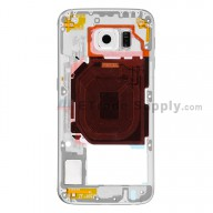 For Samsung Galaxy S6 SM-G920T Rear Housing Replacement - White - Grade S+