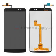 For Alcatel One Touch Idol 3 LCD Screen and Digitizer Assembly Replacement (5.5 Inches) - Black - Without Logo - Grade S+