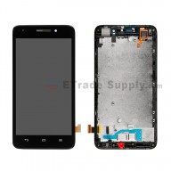 For Huawei Ascend G620S LCD Screen and Digitizer Assembly with Front Housing Replacement - Black - Without Logo - Grade S+