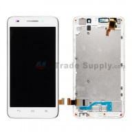 For Huawei Ascend G620S LCD Screen and Digitizer Assembly with Front Housing Replacement - White - Without Logo - Grade S+