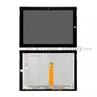 For Microsoft Surface 3 LCD Screen and Digitizer Assembly  Replacement - Black - With Logo - Grade S+